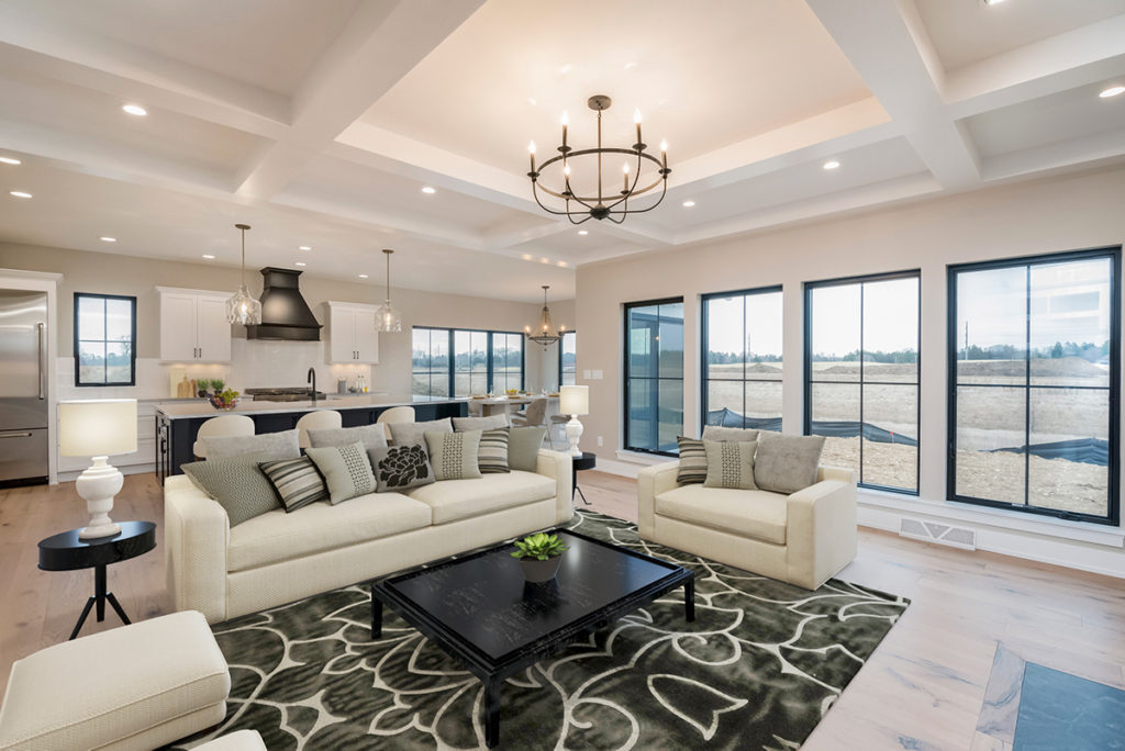 """""""Magnolia"""" – Lakeside Homes New Construction Great Room and Kitchen"""