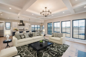 """Magnolia"" – Lakeside Homes New Construction Great Room and Kitchen"