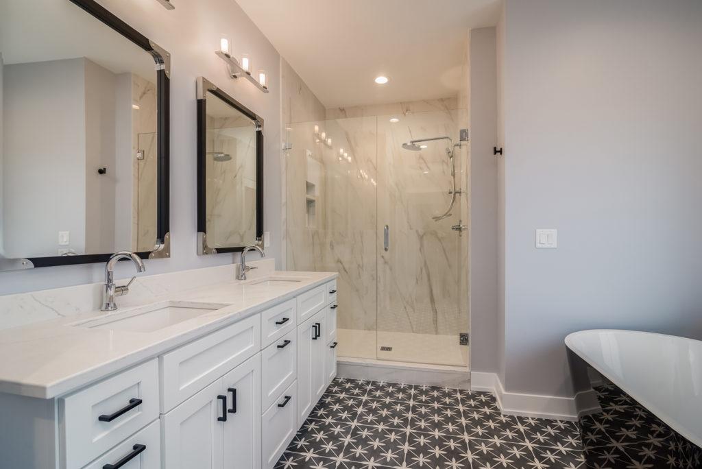 """Magnolia"" – Lakeside Homes New Construction Master Bathroom"