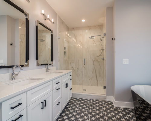 """Magnolia"" – Lakeside Homes New Construction Master Bathroom"