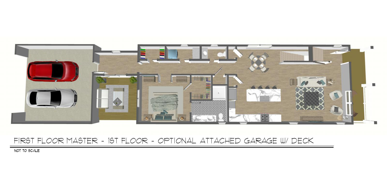 Foxtown, Mequon, New Home, First Floor Floor Plan, Attached Garage