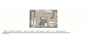 Foxtown, Mequon, New Home, Second Floor Floor Plan, Jack and Jill Bathroom