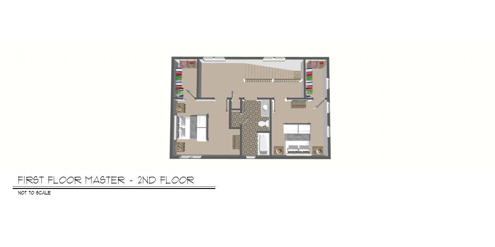 Foxtown, Mequon, New Home, Second Floor Floor Plan