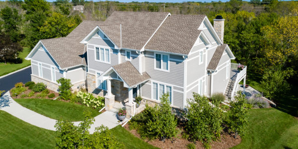 exterior-light-gray-home-white-trim-beautiful-landscaping-from-above