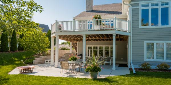 2-story deck backyard oasis outdoor living