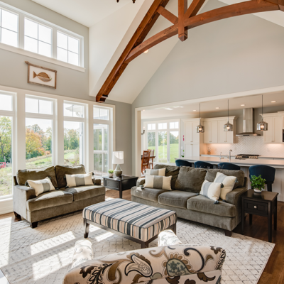 lakeside-wood-beam-great-room-open-cathedral-ceiling