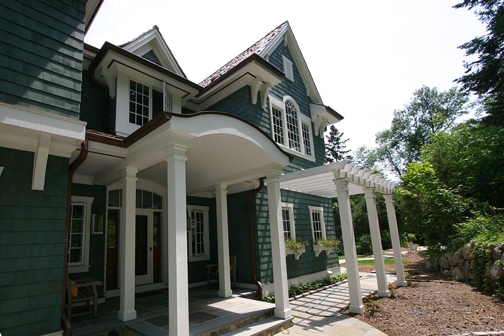 lake house new construction historic 1900s charm exterior
